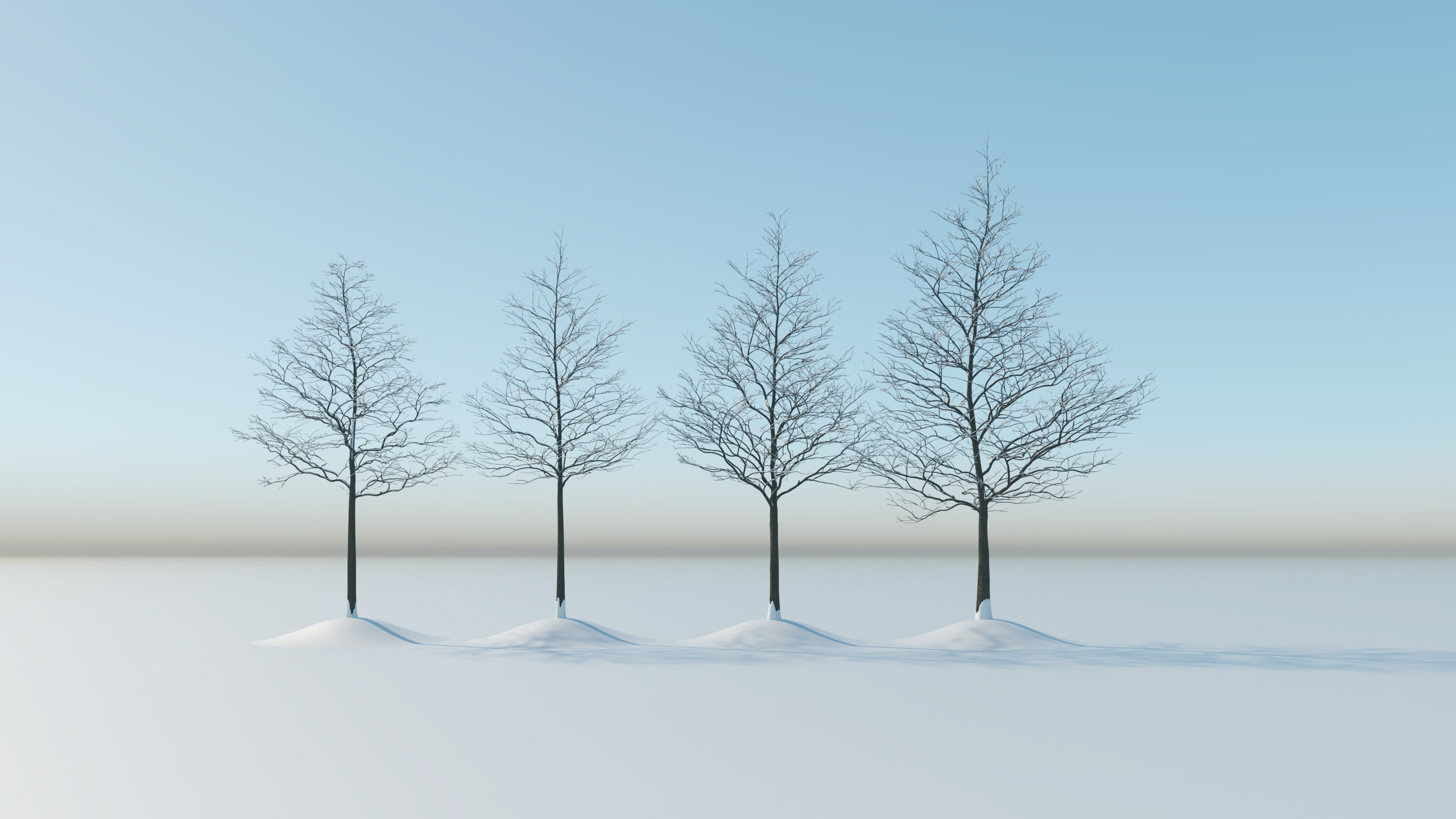 Winter trees pack