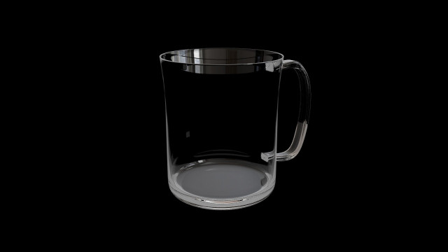 Glass without red juice