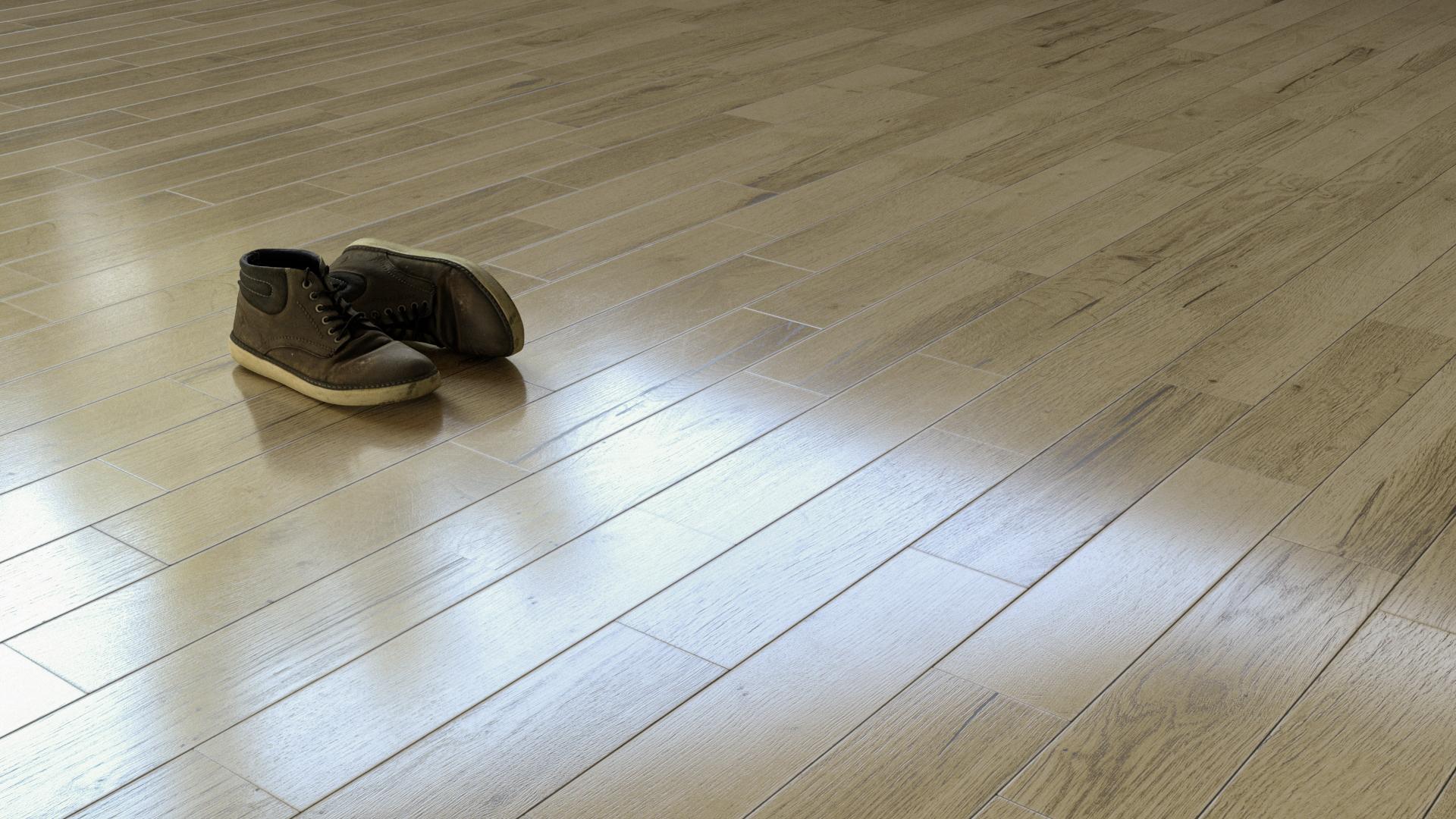 Oak planks glossy