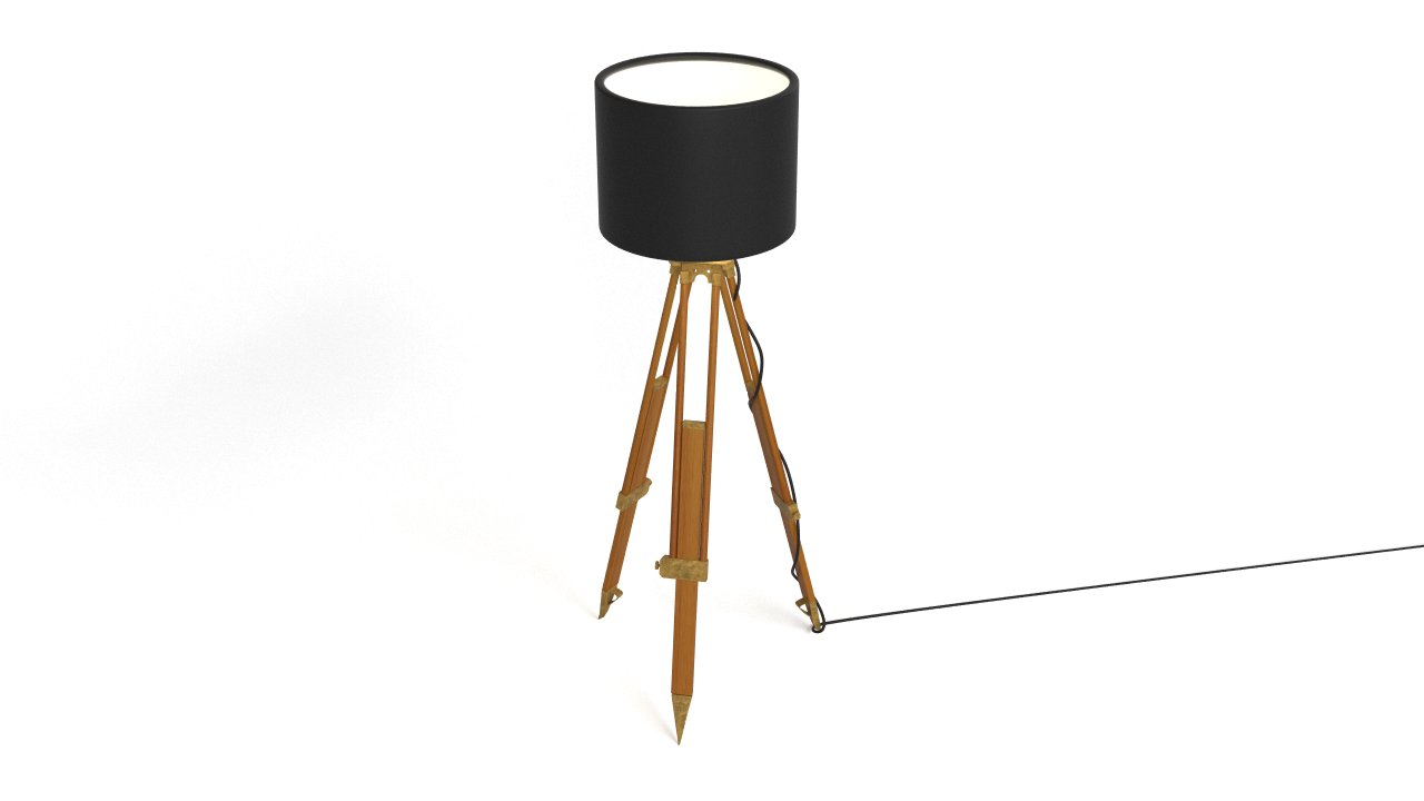 Historic tripod lamp