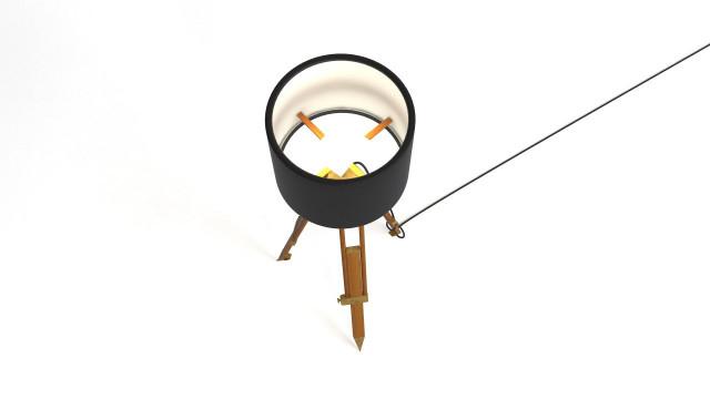 Historic tripod lamp