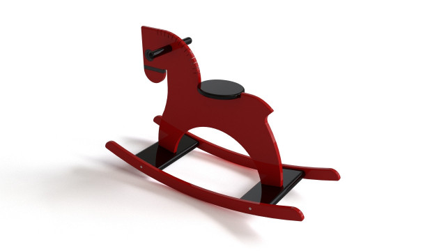 Playsam rocking wooden horse