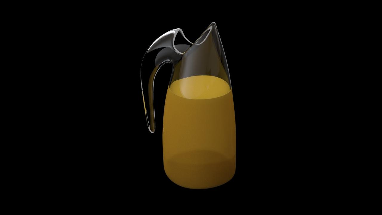 Jar with orange juice