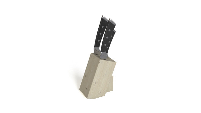Knives in wooden stand